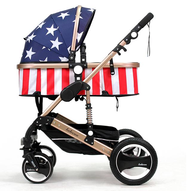 À Prova de Choque de alta Paisagem Carrinho de Bebê Dobrável Carrinhos Carrinhos para Recém-nascidos em Liga de Alumínio de Carro Do Bebê de Luxo Confortável C01