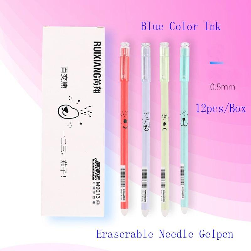 12/pi/èces//Lot New mignon lapin Noir dencre Stylo /à encre gel 0,5/mm d/étude d/écriture stylos rose