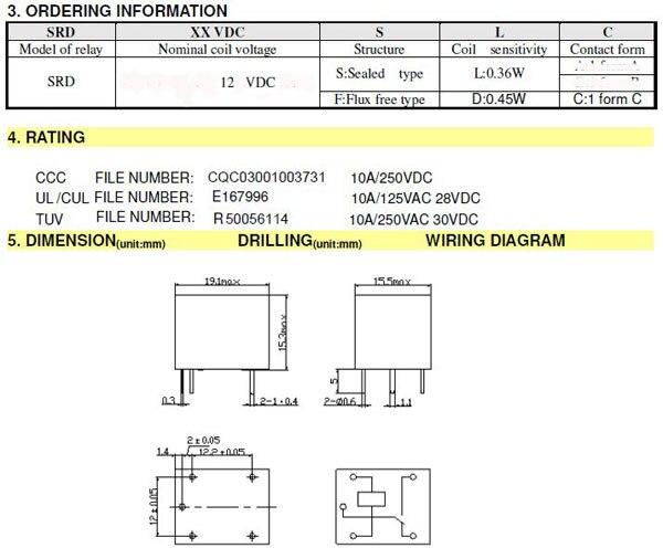 Songle srd 12vdc sl c – aansluiten meterkast schema.