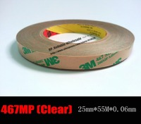 1x 25mm 55M 0 06mm 2 3mils Thickness 3M 467 MP 200MP Adhesive Double Sided Tape
