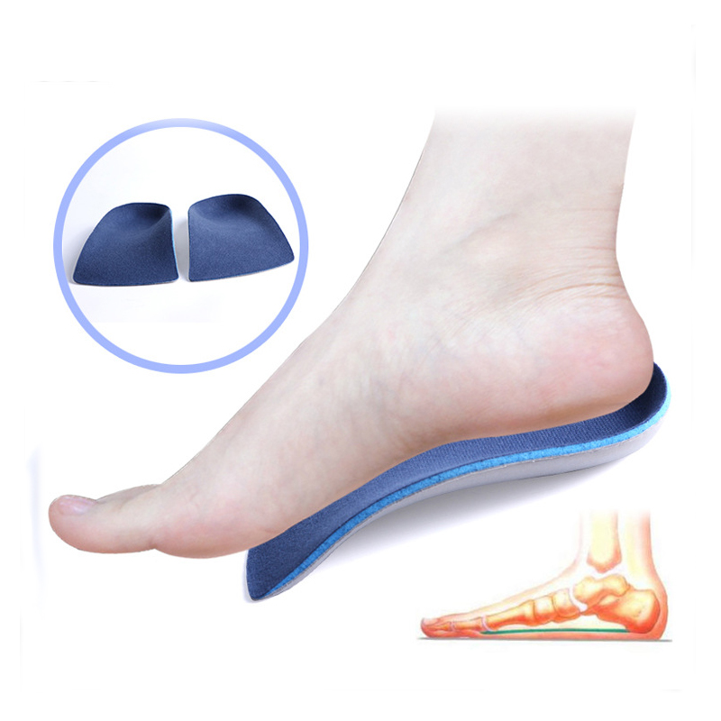EXPfoot EVA Flat Foot Orthotics insoles  Arch Support Half Shoe Pad Orthopedic Insoles Foot Care for Men and Women size 36 to48 adult eva flat foot arch support orthotics orthopedic insoles foot care for men and women