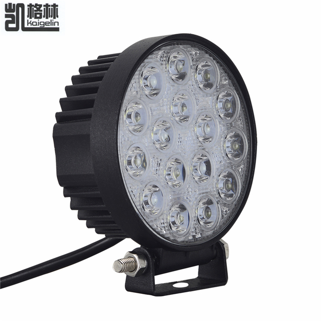 2 stks 48 w led verlichting waterdicht ip67 led flood beam spotlight auto koplamp voor suv