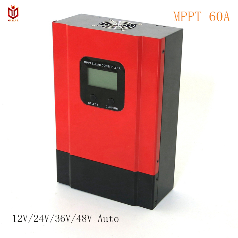 MAYLAR Esmart3 60A MPPT Solar Charge Controller 12V 24V 36V 48V Auto Battery Charge Regulator for Max. 150VDC Input high quality 12v 24v 48v auto 60a mppt solar charge controller