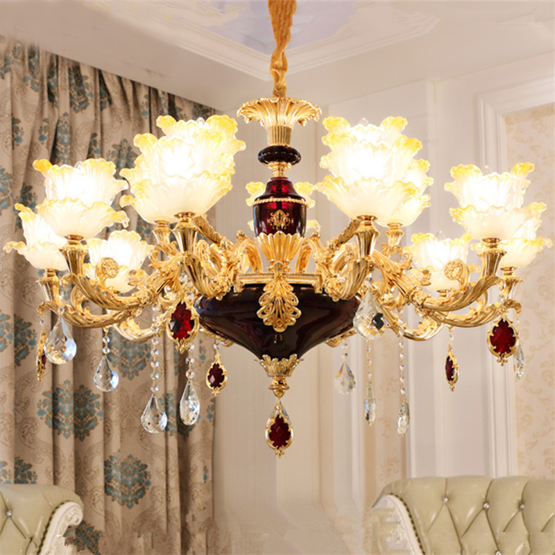 crystal chandelier living room led crystal chandelier European style restaurant bedroom lamp European style chandelier luxury led crystal chandelier lamp can be customized stainless steel restaurant