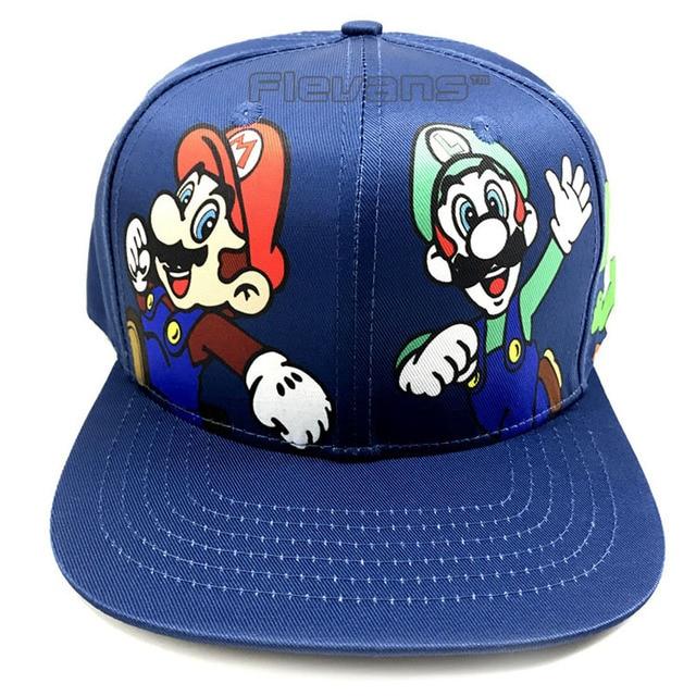 b950f72f8a7 Super Mario Bros Mario Luigi Yoshi Mushroom Snapback Baseball Hip Hop Caps  Fashion Summer Men Women Sun Hats Couple Caps