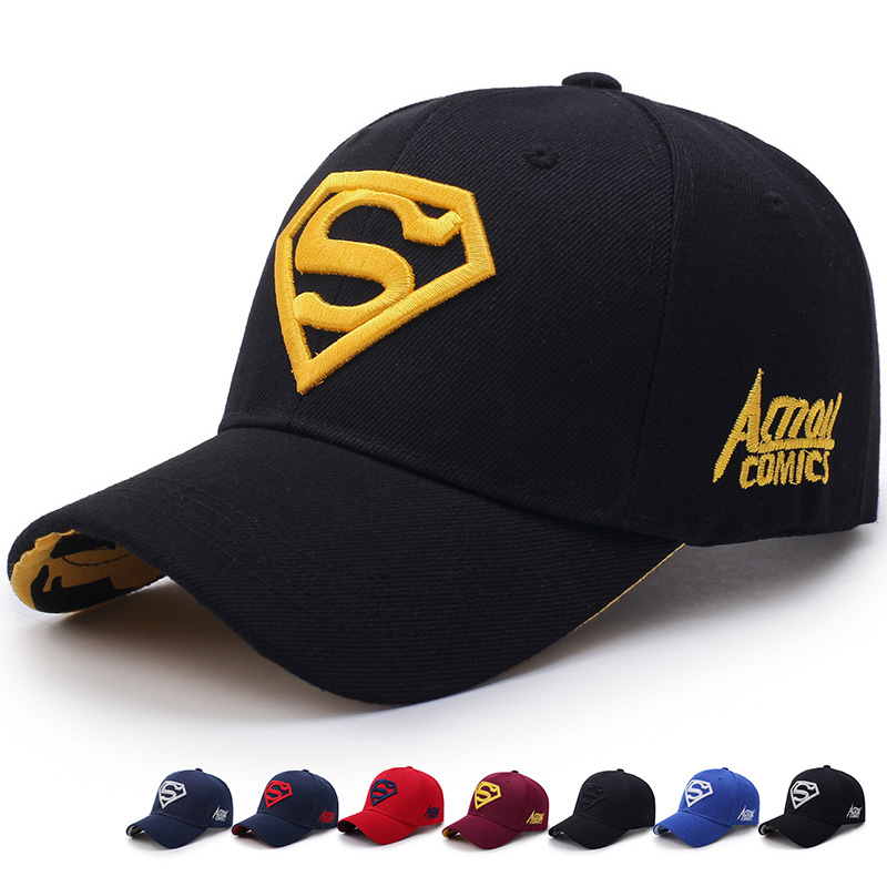 Mens Women's Summer Snapback   Baseball     Cap   Superman Hero Embroidery Unisex Sun Hat Bone Garros Casquette Golf Dad Hats Adjustable