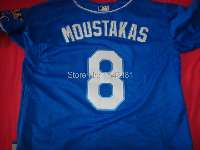 811dc583d 2015 new Coolbase  8 kansas city royals mike moustakas jersey throwback  men s baseball cheap authentic sport stitched shirt-in Baseball Jerseys  from Sports ...