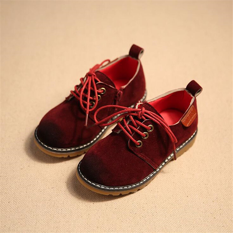 Suede leather children shoes girls boys leather shoes kids shoes new arrival children sneakers girls child England sneakers