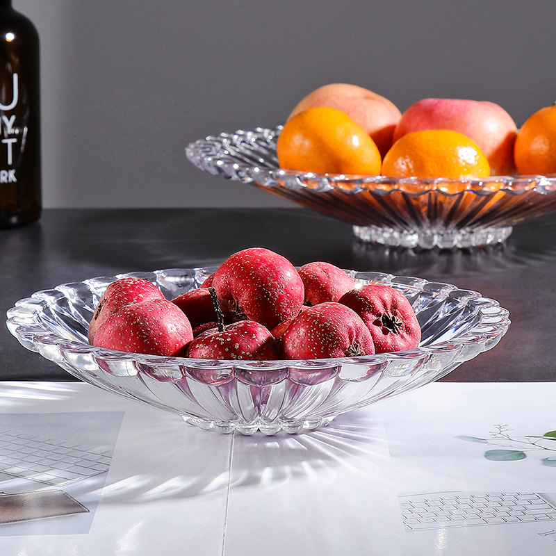 Transparent Round Fruit Plate Home Dried Fruit Plate Modern Living Room Coffee Table Snacks Melon Seeds Candy Dish Mx12251002 Dishes Plates Aliexpress