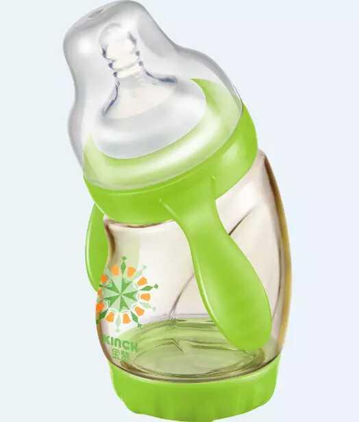 Gafas de Cereales Flujo Medio Libre de Bpa Biberón Anti-Flatulencia Cargado Sola Sólido Calabaza En Forma de Botellas de Alimentación Con Taza de Boca ancha