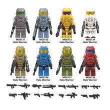 Одиночная распродажа LegoINGlys Звездные войны Halo серия воин экшн-фигурка спартанская солидер оружие строительные блоки игрушки подарки для детей