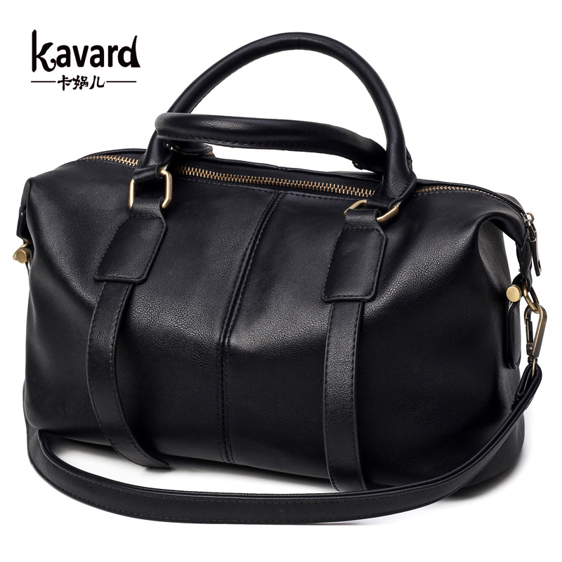 Kavard font b Handbag b font Women Shoulder Bag Fashion Black Pu Purse Luxury font b