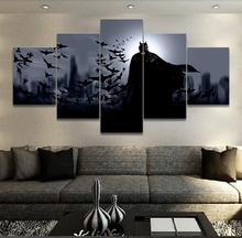 Batman Movie 5 Pieces Print Picture Poster Canvas Painting Wall Art  Living Room HD Print Painting Modern Home Decor Picture