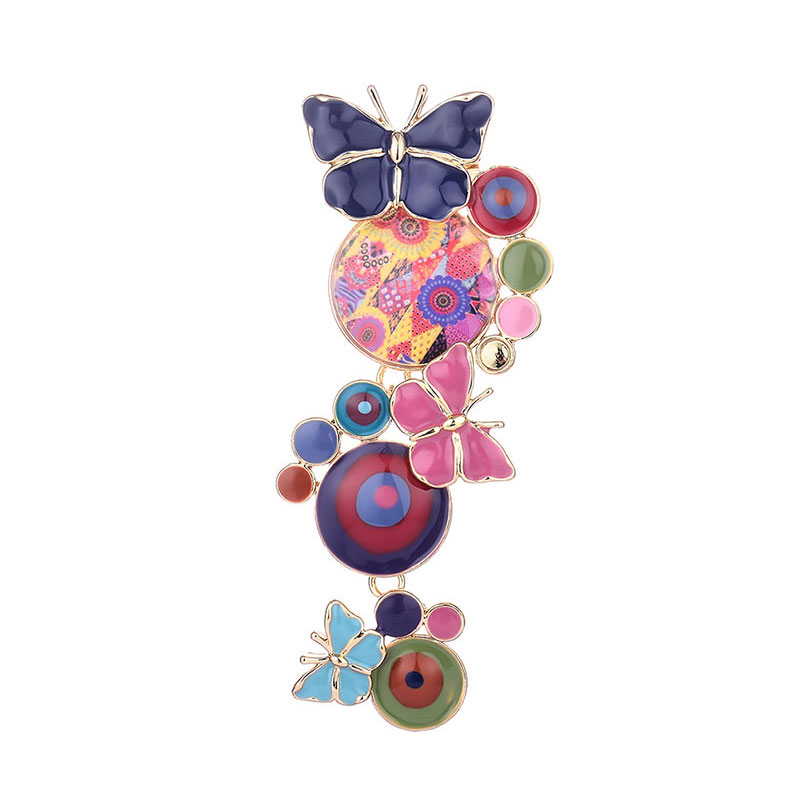09ef4cfdb Cute Enamel Butterfly Brooch Pins Chic Charming Circular Brooches For Women  Girls Decoration Jewelry New Design Alloy Accessorie