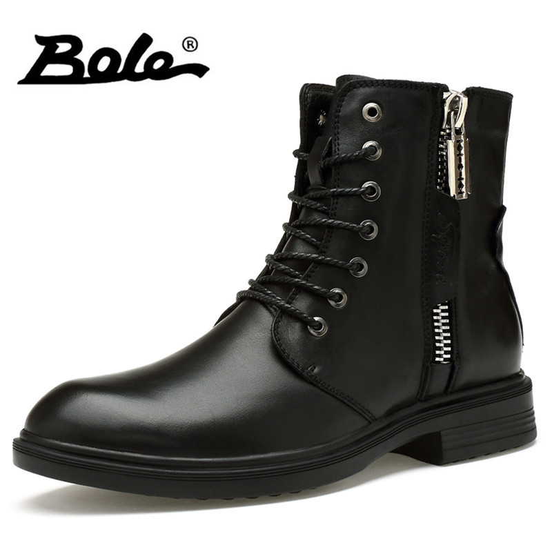 Mens Ankle Boots With Zipper On Side