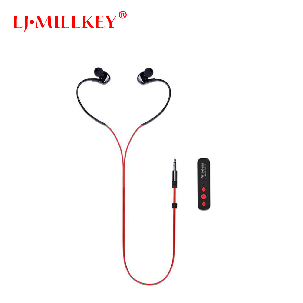 BT-75 Wireless Bluetooth Headset Bluetooth Receiver 3.5mm Jack Audio Music Adapter with Mic for Earphones Speakers MILLKEY LZ075