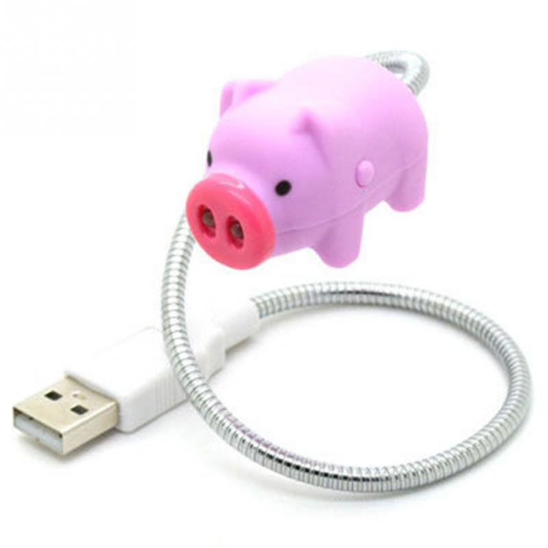Mini Cute PINK PIG USB LED Light Lamp Pig Design LED USB Gadgets For Power Bank for PC for Laptop Night Light цена
