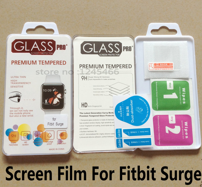 Wholesale Factory Price High Quality 500Pcs/Lot For Fitbit Surge Premium Tempered Glass Screen Protector Shield Guard Cover Film