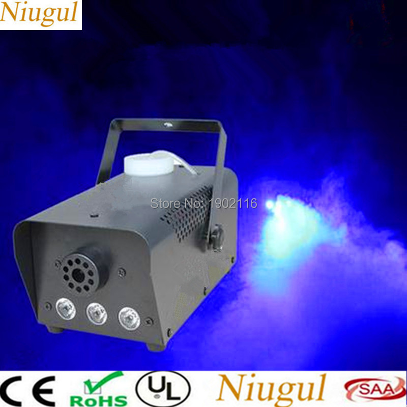 Niugul Blue color wire or remote control 500W LED Smoke machine 500W LED fog machine professional stage dj equipment/led fogger цена 2017