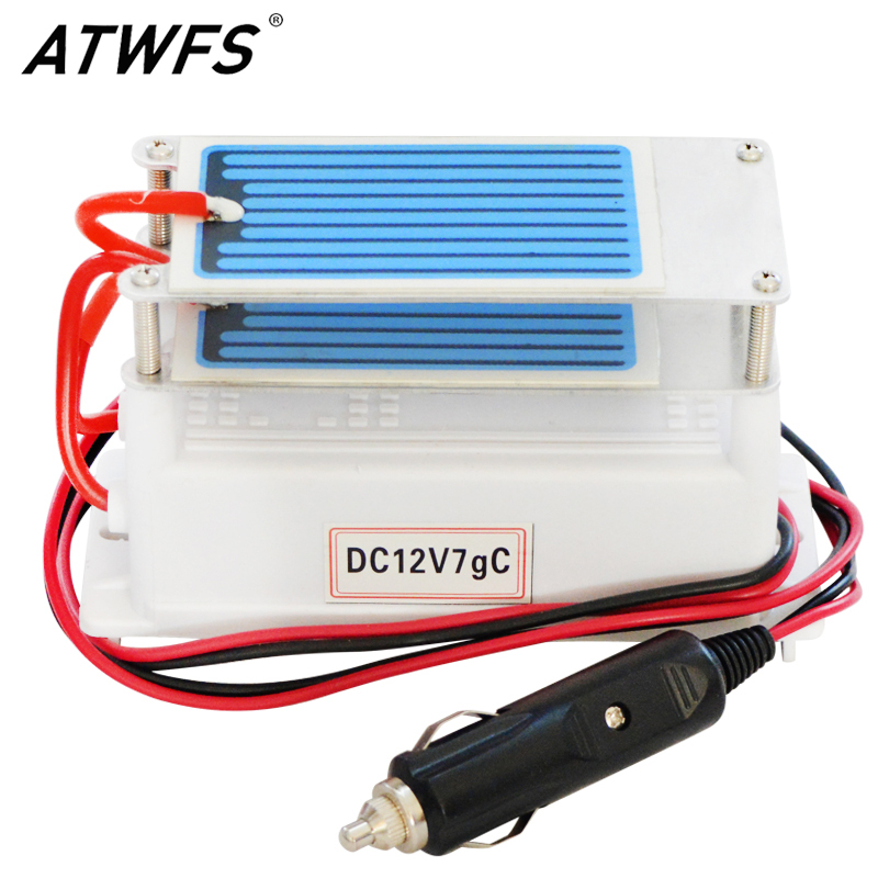 ATWFS High Quality Ozon Generator Ceramic Plate DC12v 7g Car <font><b>Air</b></font> Portable Ozone Generator for <font><b>Air</b></font> Sterilizer