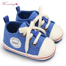 WEIXINBUY Baby Shoes 2018 Infant first walkers baby moccasins Lace-up soft soled Newborn Bebe Girls Sneaker Prewalker цены онлайн