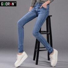 Winter Jeans woman 2018 warm Female Pencil Pants ladies Plus size Slim Feet Jeans long Trousers Women Jeans femme Plus size