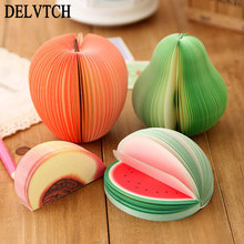 Cute Sticky Notes DIY Fruit Memo Pads Kawaii Stickers Paper Label Post Bookmark Korean Stationery Office School Student Supplies 1 pc fruit scrapbooking note memo pads portable scratch paper notepads post sticky diy apple pear shape convenience stickers
