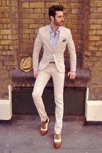 FOLOBE Terno Para Casamento Custom Made Men Slim Fits Suits 3 PCS Tuxedos Men Costume Homme