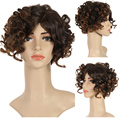 "Short Curly Blonde Wigs For Black Women Synthetic Hair Women'S Pixie Cut Wig Short Front Lace Wigs 4-12"" 130g/Pack Blonde Wigs"