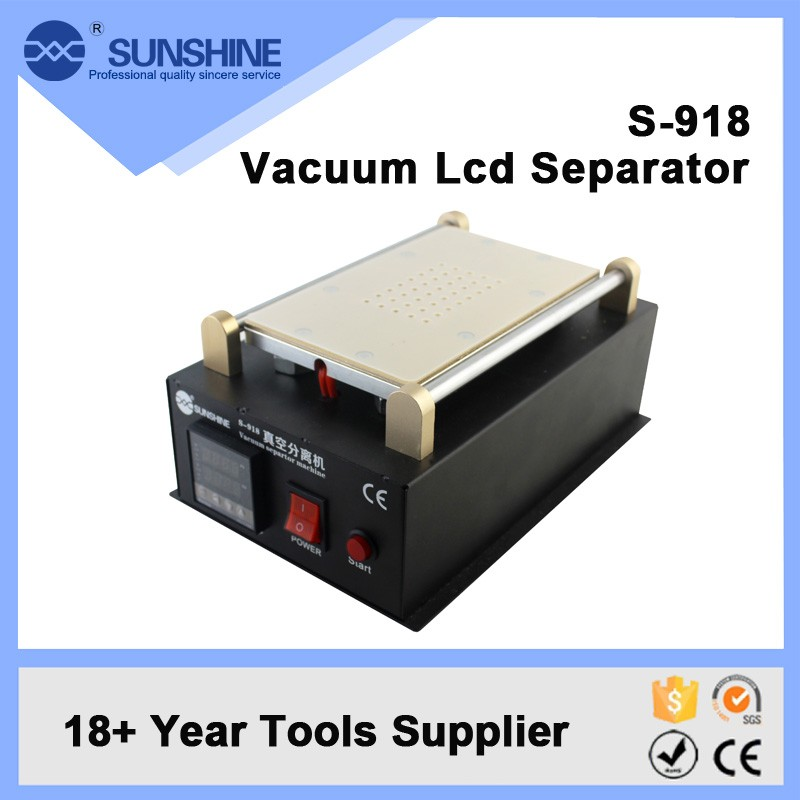 2018 New 7 inch Cheap LCD Touch Screen Glass Separator Machine S-918 LCD Machine with Vacuum Pump for iPhone 6 for samsung s6 sast 10 1 inch display nintaus machine singing old machine 50p lcd screen hw101f 0b 0c 50