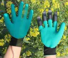 Garden Gloves Rubber Latex TPR 1 Pair Thermo Plastic Builders Work Latex ABS Plastic Claws Household
