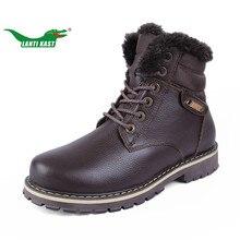 LANTI KAST Large Size 37 50 Snow Hiking Boots Men Rubber Sole Non slip Hiking Shoes