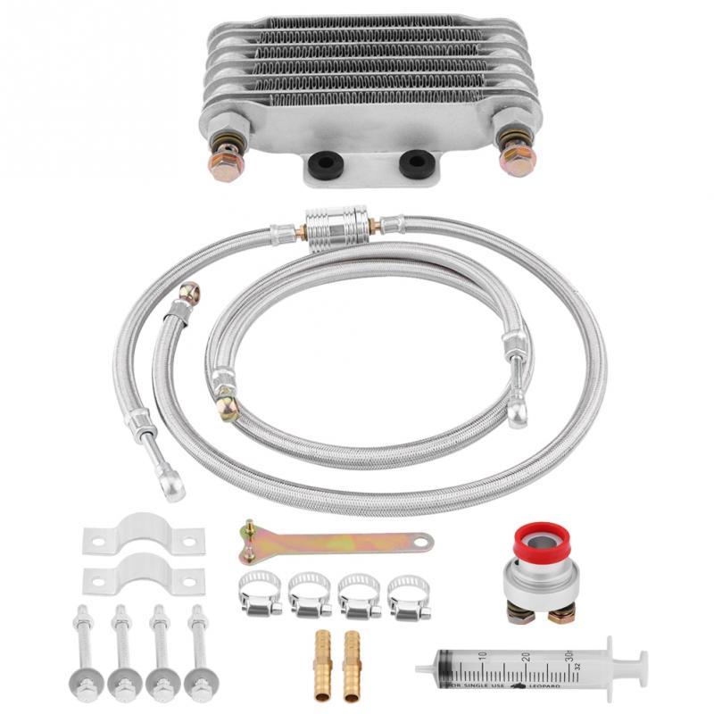 85ml Motorcycle Oil Cooler System kit Oil Cooler Engine Oil Cooling Radiator System Kit for Honda