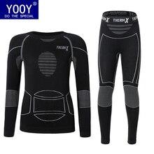 YOOY/детская одежда подштанники размера плюс, термобелье для мальчиков, зимний теплый комплект из двух предметов, сексуальная быстросохнущая одежда для девочек
