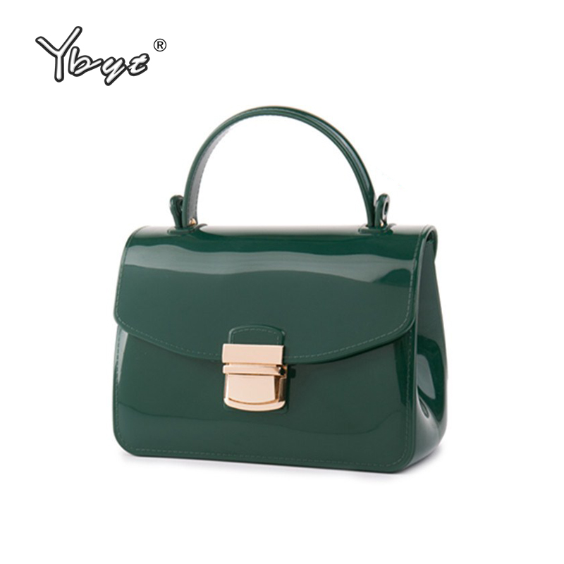 YBYT brand 2018 new fashion jelly bag women handbags ladies waterproof designer package female shoulder messenger crossbody bags