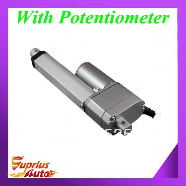 12 Вольт 8 дюймов/200 мм ход, 225lbs/100kgs/1000N нагрузки линейный приводной механизм с Отзывы и потенциометром