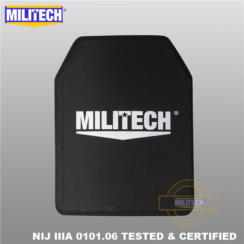 Militech NIJ IIIA 3a 280mm * 350mm Ultra Light Weight Shooters Cut Bulletproof Ballistic Panel 11 X 14 Inches School Bag Inserts