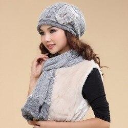Charles Perra, женские наборы шарф шапка, двойной слой, зима, утолщенная шерсть, вязаные шапки, повседневные, ручной работы, тканые, шерстяные шапоч...