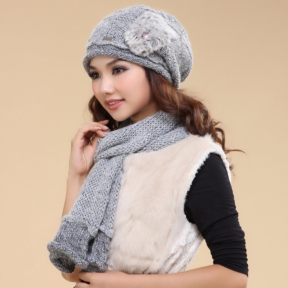 Charles Perra femmes chapeau écharpe ensembles Double couche hiver épaissir laine tricoté chapeaux décontracté à la main tissé laine bonnets casquettes 3033