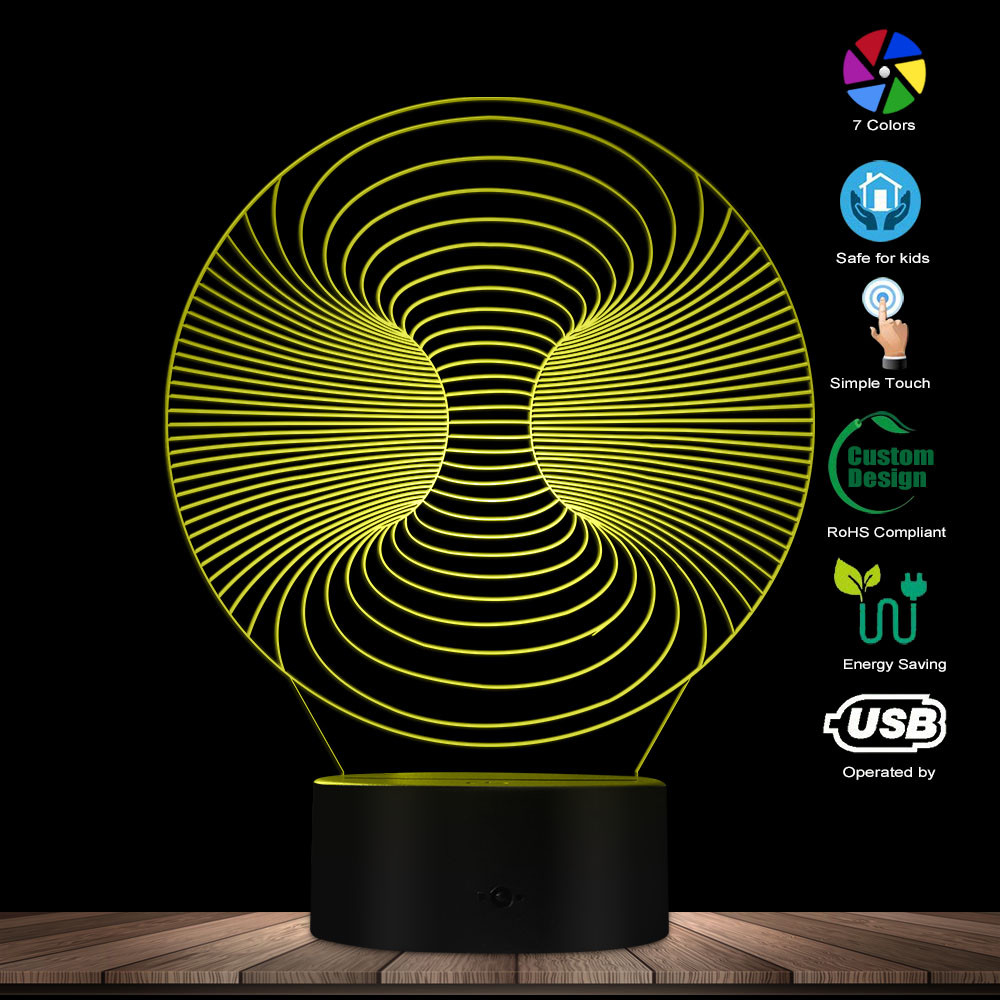 3D Visual Lamp Optical Illusion Night Ligh Art Of Light Artistic LED Lamp Glowing Desk Lamp Magical Lighting Decor Table Lamp