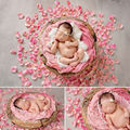 Newborn photography accessories 300Pcs Fabric Rose Petal Baby Photo Props Birthday Party Decoration maternity photo props