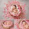 Recién nacido fotografía accesorios 300 Unids Tela Pétalos de Rosa Props Foto Del Bebé Fiesta de Cumpleaños Decoración de apoyos de la foto
