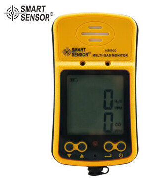 AS8903 Portable High Sensitive CO Gas Sensor Monitor LCD Display 2 in 1 Carbon Monoxide / Hydrogen Sulfide Gas Detector