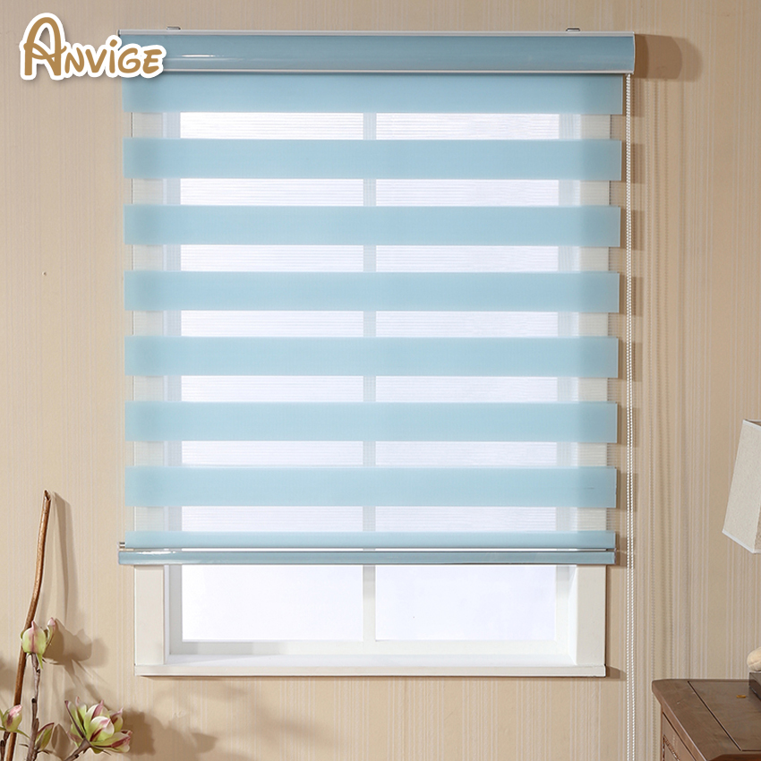 Europe Usa Canada Hot High Quality Zebra Blinds Rollor Blind Double Layer Curtains For Bedroom