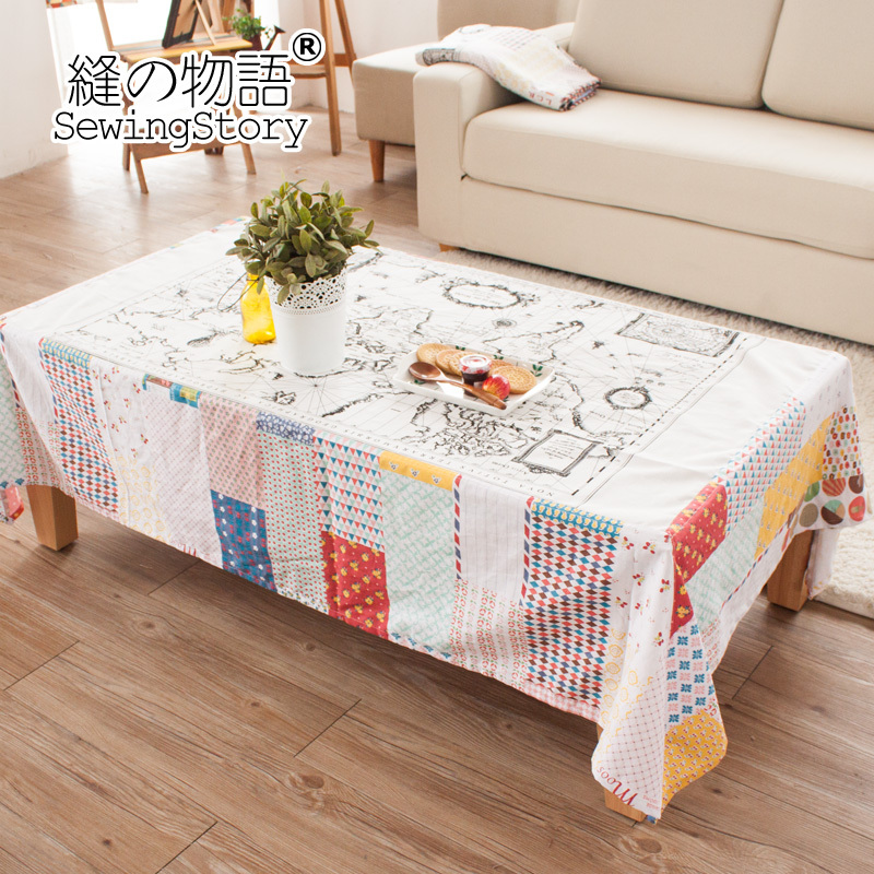 ... Coffee Table Cloth From Reliable Aliexpress Seam Story World Map Series  Cotton Past - Coffee Table Cloth CoffeTable