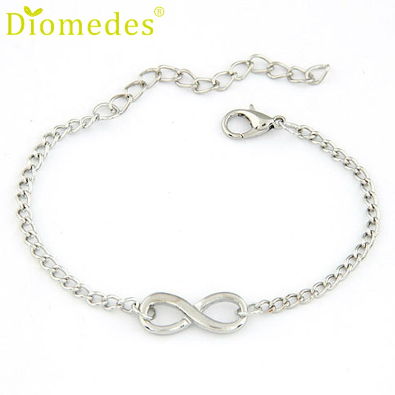 Bracelets: Best seller Free Shipping Diomedes New Women Men fashion Handmade Gift Charm Infinity Shape Jewelry Bracelet Pulsera Apr18