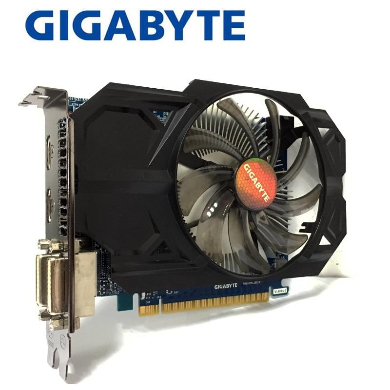 Gigabyte GTX750TI-2GB  GTX 750TI 2GB 2G  D5 DDR5 128 Bit  PC Desktop Graphics Cards  computer  Graphics Cards