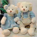 50 cm 2 pieces couple teddy bear with clothes stuffed animal toy high quality wedding gift valentine gift