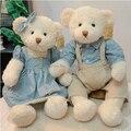 50 cm 2 unidades pareja oso de peluche con ropa de peluche de juguete de alta calidad de regalo de bodas regalo de san valentín