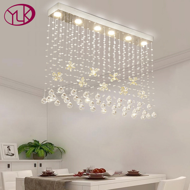 Cognac Butterfly Crystal Modern Chandelier For Dining Room Rectangle